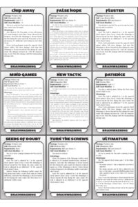 Spycraft 2.0: Dramatic Conflict Cards