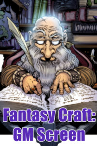 Fantasy Craft Gamemaster Screen