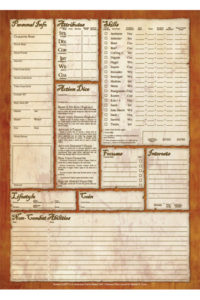 Fantasy Craft: Variant Character Sheets